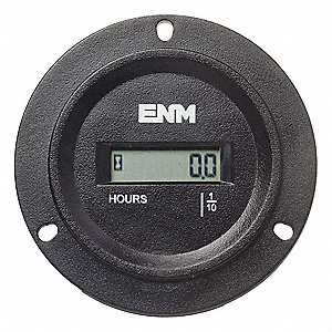 Hour Meter, Number of Digits: 6, Round Bezel Face Shape