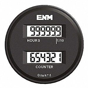 Hour Meter/ Counter,6 Digits,LCD