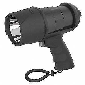 LED Spotlight, Plastic, Maximum Lumens Output: 500, Black, 3.75""