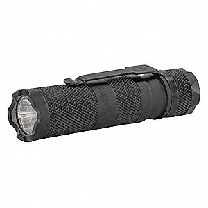 Tactical LED Handheld Flashlight, Aluminum, Maximum Lumens Output: 175, Black