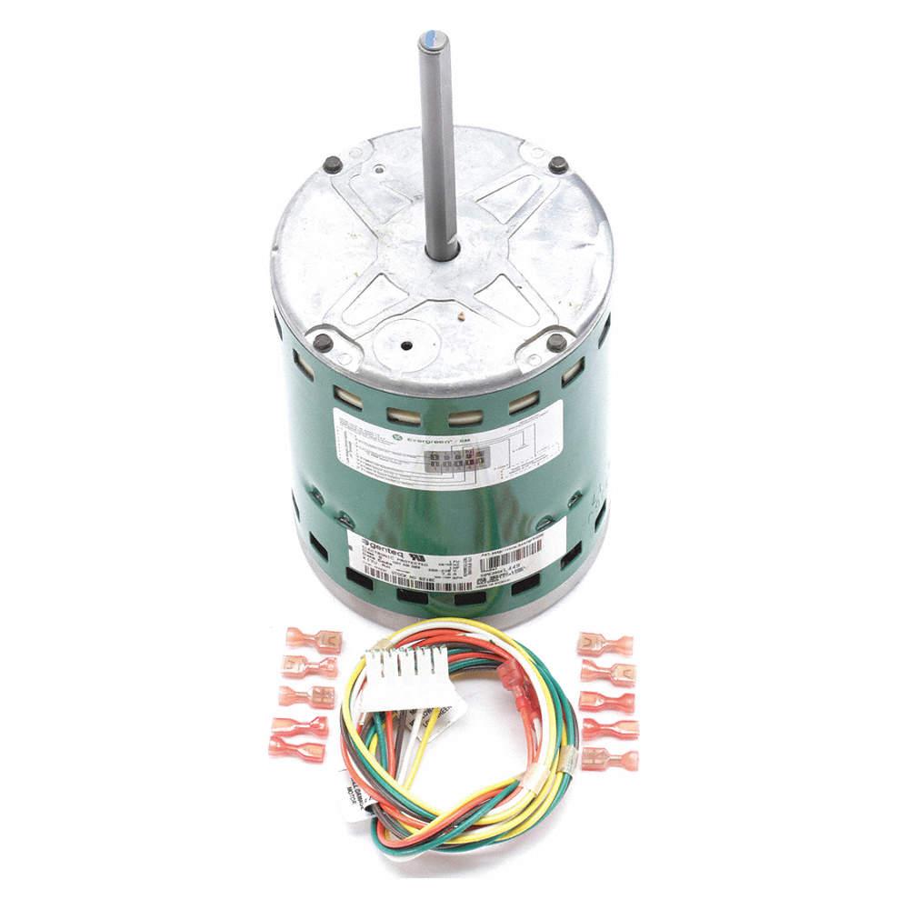 1 HP ECM Direct Drive Blower Motor,ECM,1200 Nameplate RPM,208-230  Voltage,Frame 48