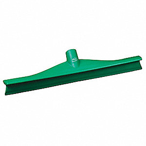 "16""W Straight Rubber Floor Squeegee Without Handle, Green"
