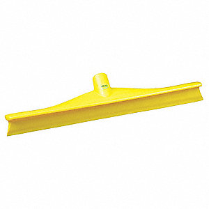"16""W Straight Rubber Floor Squeegee Without Handle, Yellow"