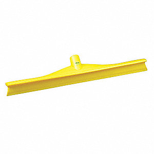 "20""W Straight Rubber Floor Squeegee Without Handle, Yellow"