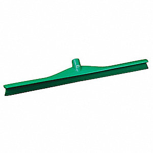 "28""W Straight Rubber Floor Squeegee Without Handle, Green"