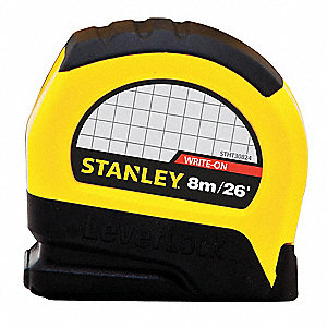 26 ft. Steel SAE Tape Measure, Black/Yellow