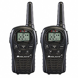 FRS/GMRS LCD Portable Two Way Radio, Number of Channels 22