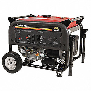 Portable Generator, 120/240VAC Voltage, 7000 Rated Watts, 11,620 Surge Watts, 58.3/29.2 Amps @ 120/2