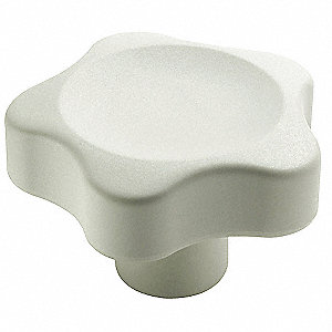 Glass-Fibre Lobe Knob with Matte Finish, White; Hardware Not Included