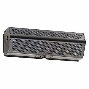Low Profile Air Curtain, 2 ft. Max. Door Width, 8 ft. Max. Mount Ht., 49 dBA @ 10 Feet, 1800 fpm