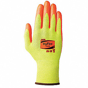 Cut Resistant Gloves,Yllw/Org,6,PR