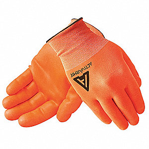 15 Gauge Smooth Nitrile Coated Gloves, Glove Size: 11, High Vis Orange