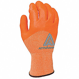 Nitrile Cut Resistant Gloves, ANSI/ISEA Cut Level 2, Kevlar® Lining, Orange, 8, PR 1