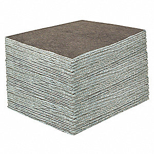 Absorbent Pad,Universal/Maintenance,Gray