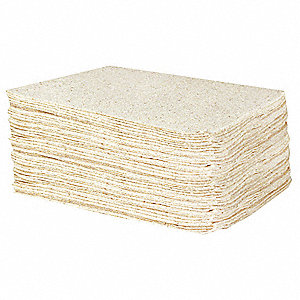 "19"" x 15"" Light Absorbent Pad for Oil Only / Petroleum, White&#x3b; PK1"
