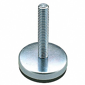 "Leveling Mount, Fixed Stud, 250 lb. Load Capacity, 2-1/4"" Height, Stainless Steel"