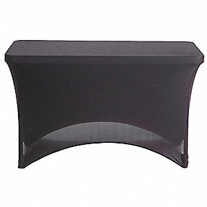 "48"" x 24"" Fabric Table Cover, Black"