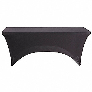 "72"" x 30"" Fabric Table Cover, Black"