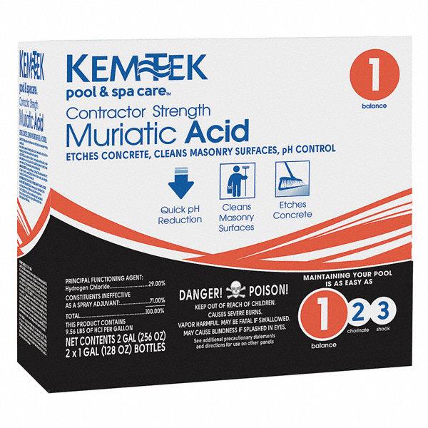 Kem Tek Pool Liquid Muriatic Acid 168 Pk 20kr76 26459047374 Grainger
