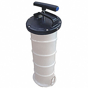 Fluid Evacuator, Manual,  1.7 gal.