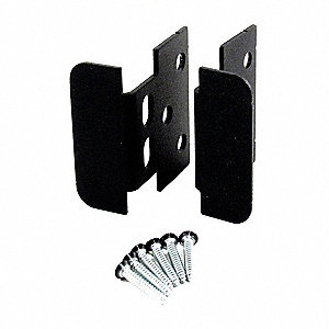 Security Hasp/Handle,2-7/16In. H,Black