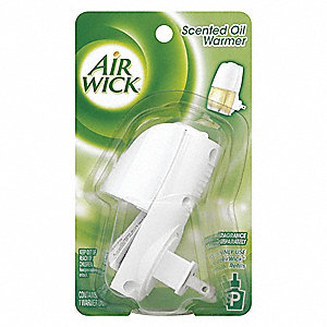 Continuous Air Freshener Dispenser, Not Rated Coverage, Cartridge Refill Type, White