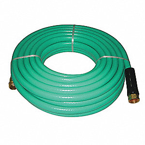 "50 ft. x 5/8"" dia. Water Hose, Reinforced PVC, 500 psi, Green"