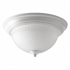 LED Flush Mount,White,5-3/4in. H