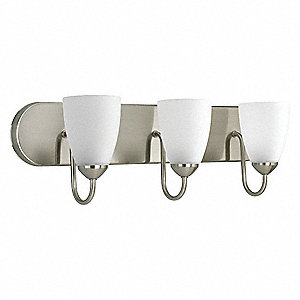 Light Fixture,300W,120V,Brushed Nickel