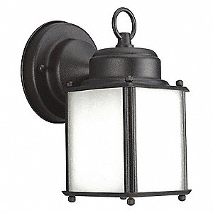 13 Max. Wattage Wall Lantern for GU-24 Lamp Type, Black
