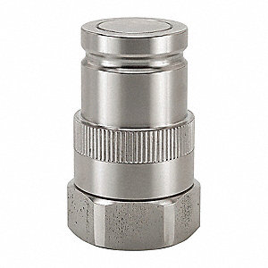 "3/4""-16 316 Stainless Steel Hydraulic Coupler Nipple"