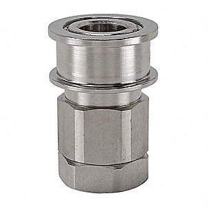 "1/4""-18 316 Stainless Steel Hydraulic Coupler Body, 1/4"" Body Size"
