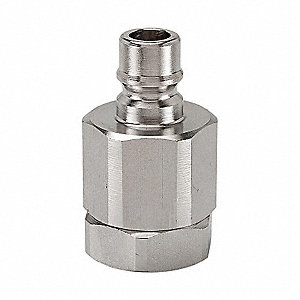"1/4""-18 316 Stainless Steel Hydraulic Coupler Nipple, 1/4"" Body Size"