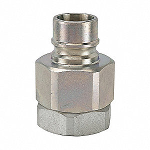 Coupler Nipple,1/4-18,1/4 In. Body,Steel