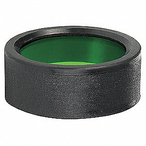 Colored Lens for Flashlights, Green for Mfr. No. BD-198-HLS-2C, BD-180-HLS-1C, BD-198-MH-2C, BDRC-20