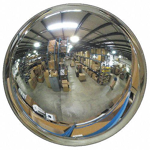 Grainger approved espejo convexo de visi n amplia 26 dia for Espejos esfericos convexos