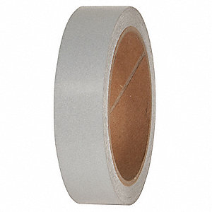"Reflective Marking Tape, Solid, Continuous Roll, 1"" Width, 1 EA"