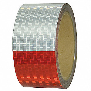 "Marking Tape, Striped, Continuous Roll, 2"" Width, 1 EA"