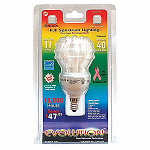 "3-3/4"" Very Cool A19 Screw-In CFL, 11 Watts"