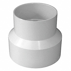 "Reducing Coupling, Hub, 4"" x 3"" Pipe Size (Fittings)"