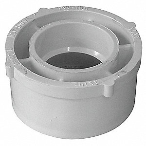"Reducing Bushing, Sewer Spigot x PVC-DWV Hub, 3"" x 1-1/2"" Pipe Size - Pipe Fitting"