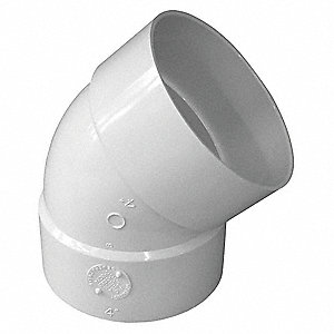 "Elbow, 45°, Hub, 4"" Pipe Size - Pipe Fitting"