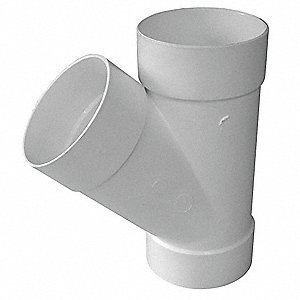 "Wye, Hub, 4"" Pipe Size - Pipe Fitting"