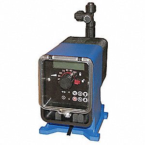 Diaphragm Chemical Metering Pump, Adjustable Output, 96.00 gpd Max. Flow, 100 psi, 115VAC
