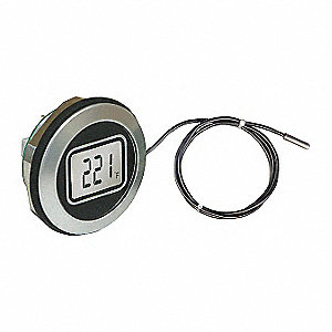 Thermometer,Round,3-1/2In,Waterproof