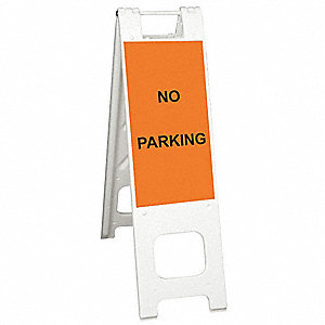 Barricade Sign,No Parking,45 in. H
