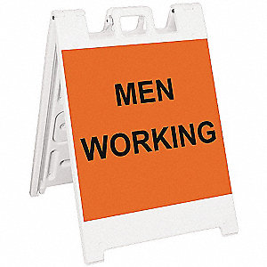 Barricade Sign,Men Working,36 in. H