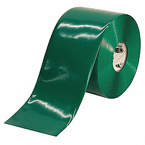 "Industrial Floor Tape, Solid, Roll, 6"" x 100 ft., 1 EA"