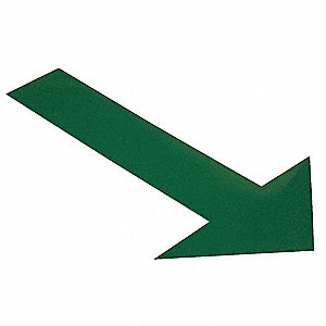 "Industrial Floor Tape Markers, Solid, Arrow, 6"" x 10"", 50 PK"