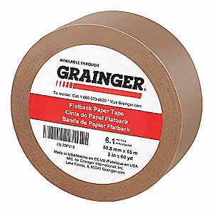 "Kraft Paper Masking Tape, Rubber Tape Adhesive, 6.10 mil Thick, 2"" X 60 yd., Tan, 1 EA"
